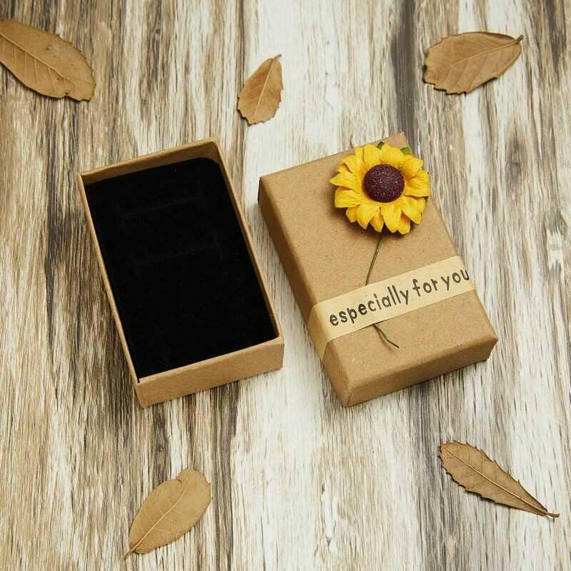 Sunflower Rose Xmas Case For Ring Earrings Necklace Bracelet Jewellery Box lskn