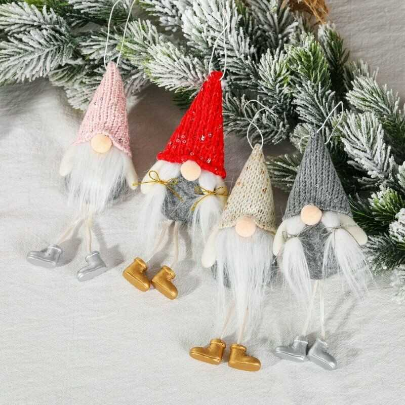 1-20PCS Christmas Glitter Bows Bowknot Door Window Wreath Tree Topper Xmas Decor