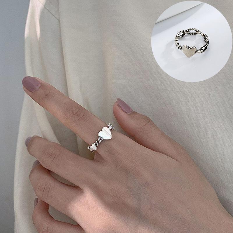 Hearts Ring Thumb Ring Heart Design Ring Finger Ring Spoon Ring