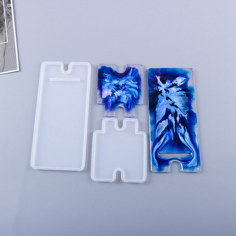 DIY Mold Silicone Mobile Phone Stand Holder Casting Resin Epoxy Mould Craft Tool