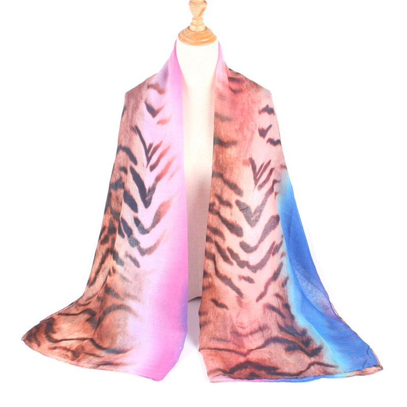 Pink tone colour animal print tassel scarf ladies fashion UK SELLER