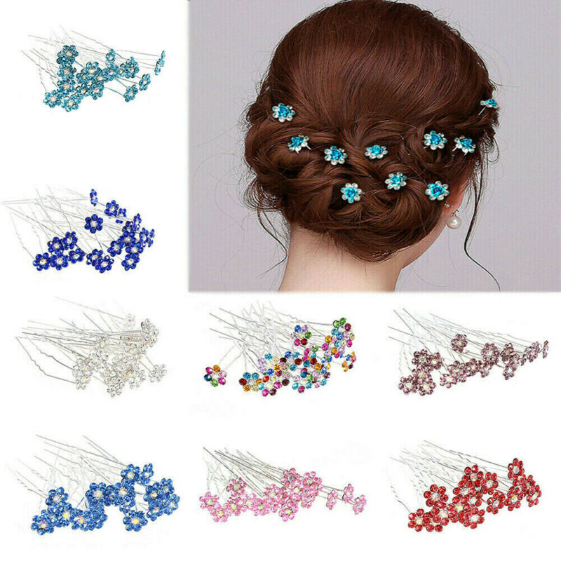 Hairpin Barrette Clip Crystal Rhinestone Wedding Bridal Prom Party New Design