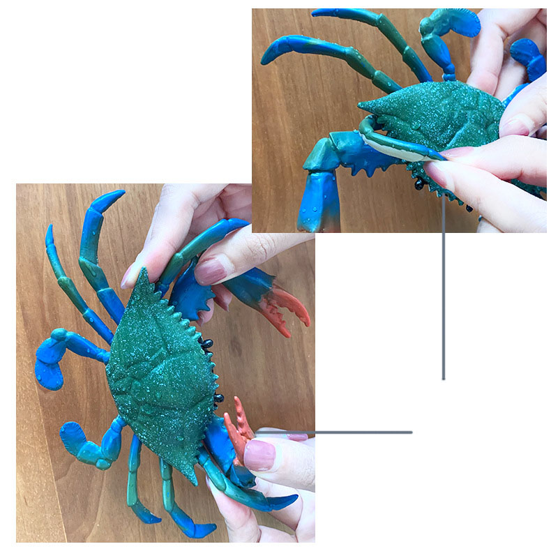 Kids Toy Toy Animal Large  Realistic Plastic Sea Figure Crab Model Red Size