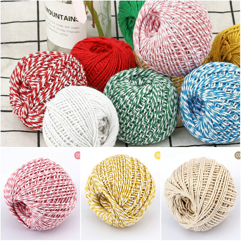 Hanging Twine Wrapping Twine Cotton Bakers Twine Cotton Twine Vintage Twine Cotton Yarn Striped Twine Retro Twine 100m Twine