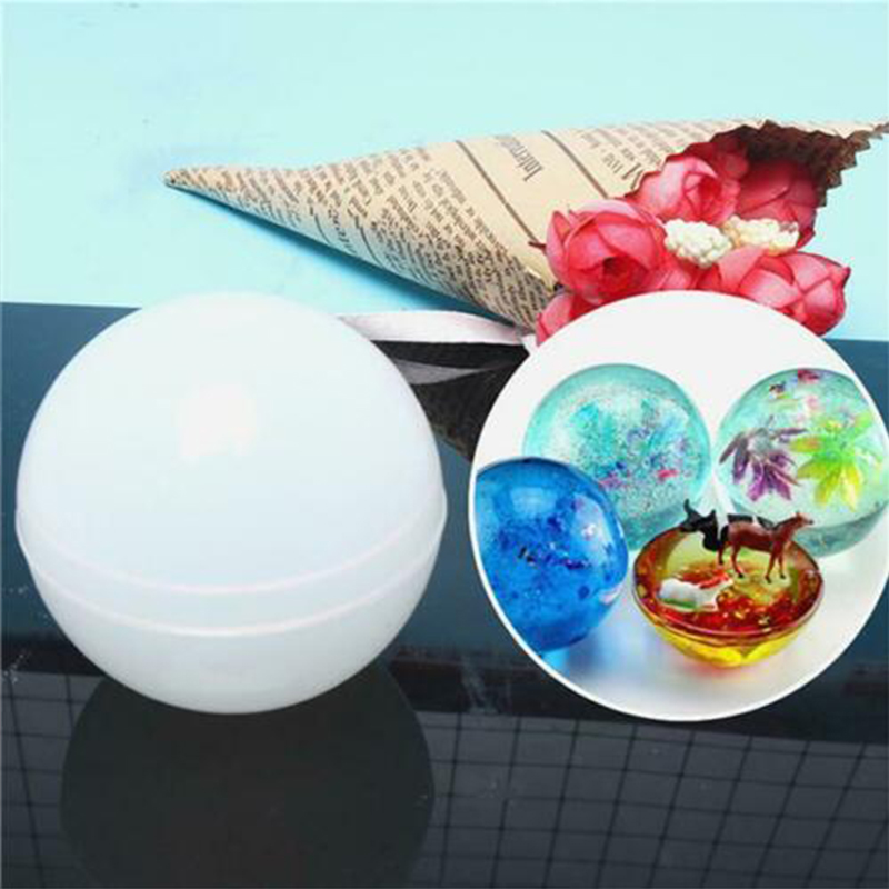 Casting Craft Epoxy Resin Round Sphere Mould Tool Baby  Ball Mold DIY Silicone